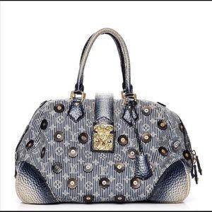 Louis Vuitton Denim Polka Dots Trunks Bag Bowly